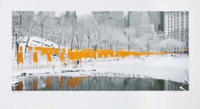 Christo and Jeanne-Claude, 'The Gates Skyline im Schnee'