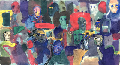 Ted Diamond, 'Untitled (Thirteen Figures Interior Yellow Window) '