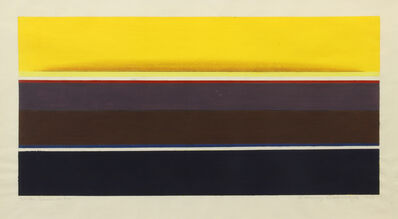 Lawrence Calcagno, 'Dark Sunbands', 1968
