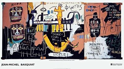 Jean-Michel Basquiat, 'History of Black People Exhibition Poster', 2002