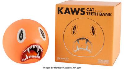 KAWS, 'Cat Teeth Bank (Orange)'