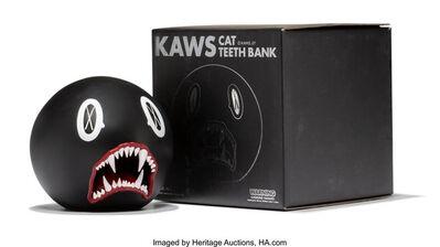 KAWS, 'Cat Teeth Bank (Black)', 2007