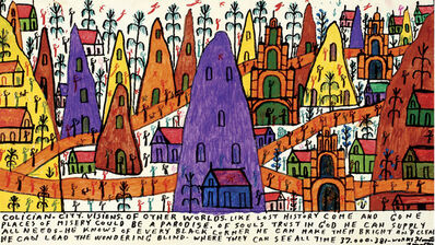 Howard Finster, 'Colician City, Visions of Other Worlds', 1995
