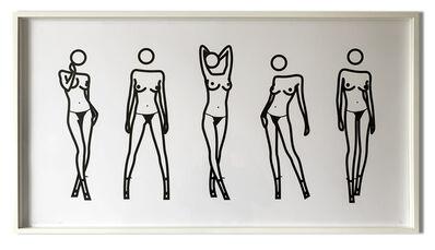 Julian Opie, 'Bijou gets undressed 5', 2004