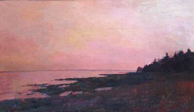 "Larry Horowitz, '""Maine Sunset"" pink sunset over dark beach', 2010-2017"