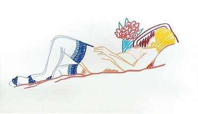 Tom Wesselmann, 'Nude with bouquet and stockings', 1991
