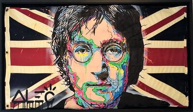 Alec Monopoly, 'JOHN LENNON ICON ON UK FLAG', 2018