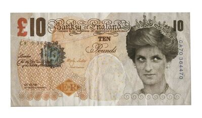 After Banksy, 'DI-FACED TENNER', 2004