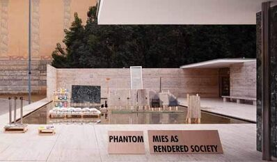 Andres Jaque, 'Phantom. Mies As Rendered Society. Methacrylate Boxes.', 2012