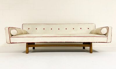 Edward Wormley, 'Vintage c. 1953 Edward Wormley for Dunbar Model 5316 Sofa Restored in Brazilian Cowhide with Loro Piana Red Cashmere Welting', ca. 1953