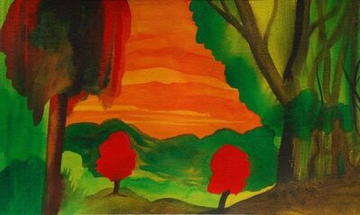 Jeremy Ramsey, 'Two Red Trees'