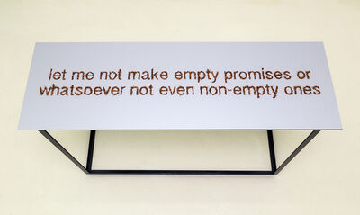 Paloma Polo, 'Let me not make empty promises or whatsoever not even non-empty ones', 2014
