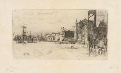 James Abbott McNeill Whistler, 'FREE TRADE WHARF (K. 163; G. 171)', 1877