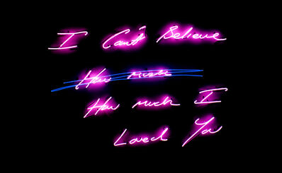 Tracey Emin, 'I Can't Believe How much How much I Loved You', 2012