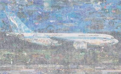 Vik Muniz, 'Jetliner from the series Postcards from Nowhere', 2014