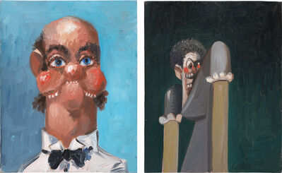 George Condo, 'Two Works: (i) Jean Louis with one Ear; (ii) Jean Louis' Wife's Sister', 2005