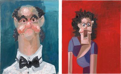 George Condo, 'Two Works: (i) Jean Louis; (ii) Jean Louis' Wife', 2005