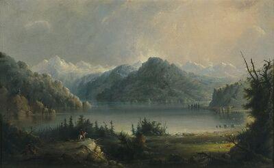 Alfred Jacob Miller, 'Wind River Mountain Range Scene', circa 1858-1874