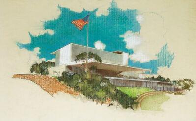 Richard Neutra, 'Perspective Elevation, Monterey Park City Hall, Monterey Park, CA', ca. 1955