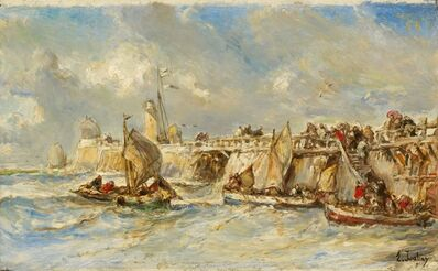 Eugène Isabey, 'Landing Stage on the Jetty', ca. 1860
