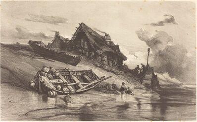 Eugène Isabey, 'Chaumières de pêcheurs', ca. 1844