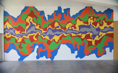Sol LeWitt, 'Wall Drawing #1002: Splat', First drawn by: Myra Berry, Brian Elling, Dirk Lee, Toni Matlock, Noellyn Pepos, Caroline Peters, David Pledge, Jennifer Reifsneider, Emily Ripley, Edgar Smith, Kaya Wielopolski; First installation: Roy and Susan O'Conner, Clinton, MO; October 2001
