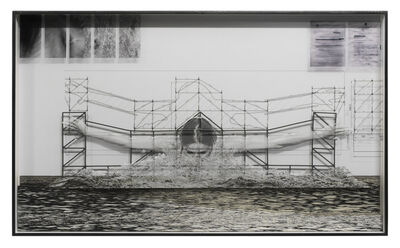 JR, 'GIANTS, Léonie PERIAULT from France, Botafogo © Comité international Olympique, Work in progress, Rio de Janeiro, Brazil, 2017', 2017
