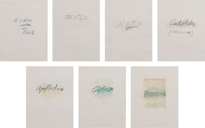Cy Twombly, 'Six Latin Writers and Poets', 1976