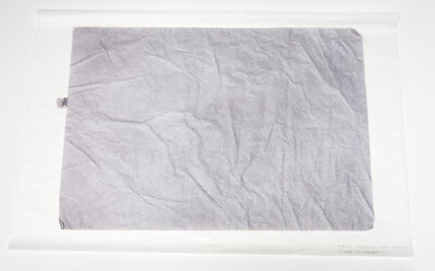 Ane Mette Hol, 'Untitled (Drawing for Two Objects), 3 sheets of silk paper', 2014