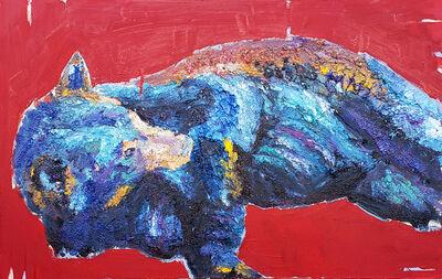 Marcel Kahhak, 'Reclining Bear/Red', 2018