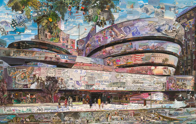 Vik Muniz, 'Postcards from Nowhere: The Solomon R. Guggenheim Museum', 2015