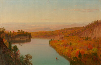 Worthington Whittredge, 'Twilight at Shawangunk Mountains'