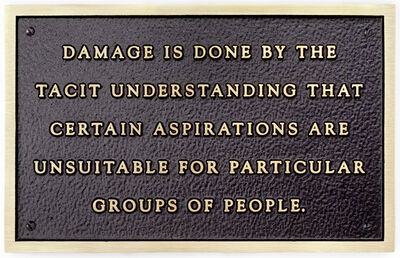 Jenny Holzer, 'Damage is done by the tacit understanding...', 1981