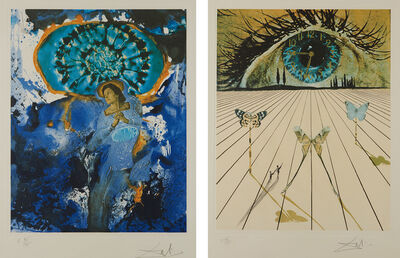 Salvador Dalí, 'Ultra-Surrealistic Corpuscular Galutska; and The Eye of Surrealistic Time, from Memories of Surrealism', 1971