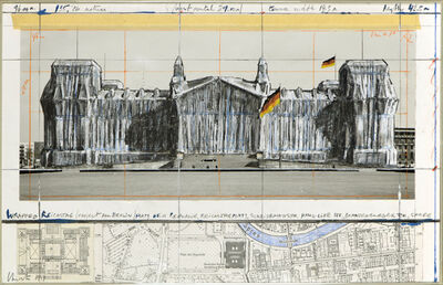 Christo, 'Wrapped Reichstag (Project for Berlin)', 1994