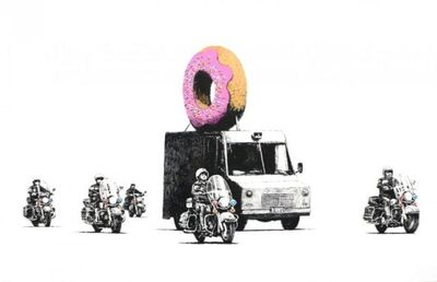 Banksy, 'Strawberry Donuts (Signed)', 2009