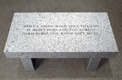 Jenny Holzer, 'What a shock when they tell you it won't hurt...', 1989