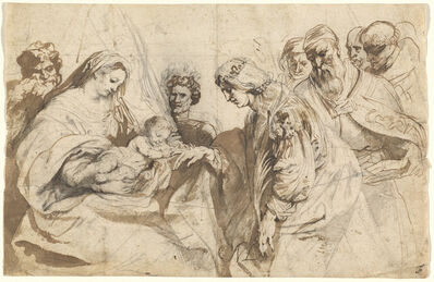 Anthony van Dyck, 'The Mystic Marriage of Saint Catherine', ca. 1618