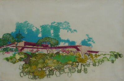 Richard Neutra, 'Perspective Rendering, Unidentified Residence', circa 1954