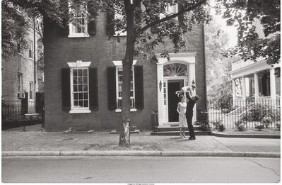 Mark Shaw, 'JFK in front of Georgetown house', 1961