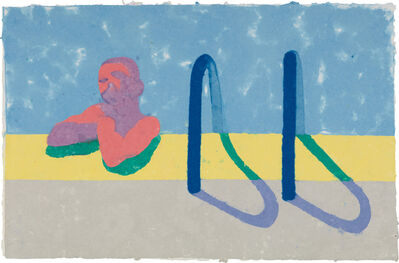 David Hockney, 'Gregory in the Pool E (Paper Pool 4)', 1978