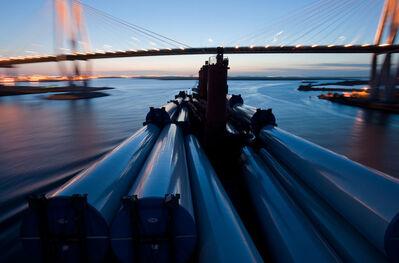 "Lou Vest, '""Wind Generator Towers, Bridge""', ca. 2011"