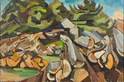 Herbert Barnett, 'Landscape with Woodchopper', ca. 1939