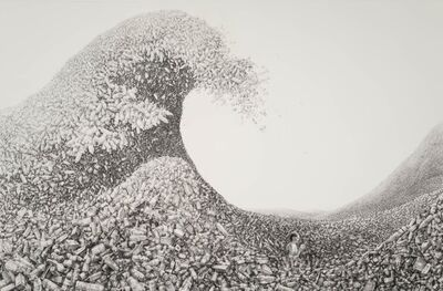 Laurie Lipton, 'PERSONAL EFFECTS (after The Wave, by Hokusai)', 2016