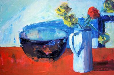 Brian Ballard, 'Roses and Bowl'