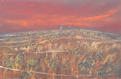 Robert Fisher, 'Bernies Tanks at Dusk, William Creek'