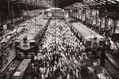 Sebastião Salgado, 'Churchgate Station, Western Railroad Line, Bombay, India', 1995-printed later