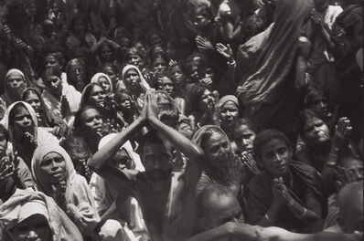 Henri Cartier-Bresson, 'Funeral of the Bhagwan Sri Ramana Maharshi, Tiruvannamalai, India', 1950