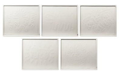 Keith Haring, 'White Icons Portfolio ', 1990