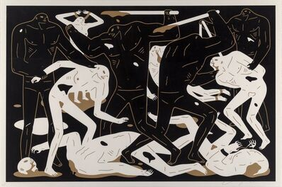 Cleon Peterson, 'Between Man and God (Black)', 2018